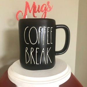 Rae Dunn coffee brake black mug